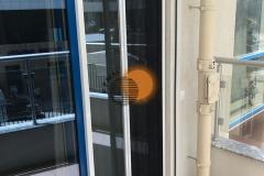 Фото москитки плиссе дверные2